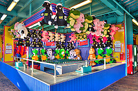 Santa Monica CA Pier Amusement Game, Ring Toss