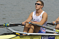 Amsterdam, NETHERLANDSS, GBR M4X.  John COLLINS.  2011 FISA U23 World Rowing Championships, {dow}, {date} [Mandatory credit:  Intersport Images].