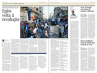 Tearsheet (Feature story) of &quot;Egipto volta a revolucao&quot; published in Expresso