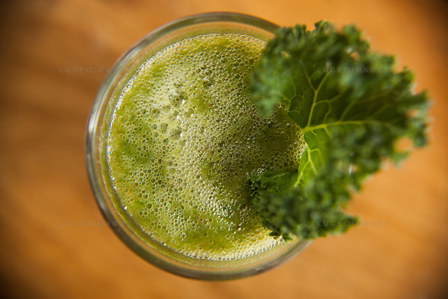 Kale shake prepared by Kristen Beddard, 29, of The Kale Project, in Paris, France.  Kevin German / Luceo