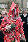 Marshfield Mummers, Boxing Day performance, Gloucestershire, England. 2006. Father Christmas.