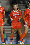 20 October 2013: Clemson's Vanessa Laxgang. The University of North Carolina Tar Heels hosted the University of Virginia Cavaliers at Fetzer Field in Chapel Hill, NC in a 2013 NCAA Division I Women's Soccer match. North Carolina won the game 2-0.