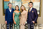 Stephen Gannon, Mary Fitzpatrick, Zoe O'Connor, Liam O'Brien at the CBS The Green Students' Debs Ball at Ballyroe Heights Hotel on Thursday night