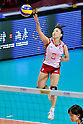 Yoshie Takeshita (JPN), .AUGUST 25, 2011 - Volleyball : .FIVB Women's World Grand Prix 2011 match between Brazil 3-0 Japan in Macau, Hong Kong. (Photo by Ryu Makino/AFLO).