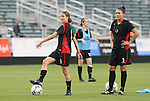 16 May 2008: Atlanta's Jillian Porto (5) and Kyri-Ann (Kay) Harbrueger (3). The Atlanta Silverbacks Women defeated the Carolina Railhawks Women 5-0 at WakeMed Stadium in Cary, NC in a 2008 United Soccer League W-League regular season game.