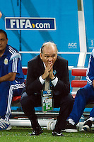 Argentina manager Alejandro Sabella looks anxious