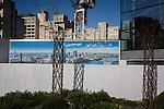 Blackfriars property development marketing suite hoarding landscape.