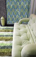 Custom tile design for hotel lounge in premium glass mosaics - Kasbah panel