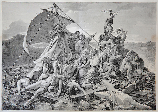 an analogy of the raft of the medusa a painting by theodore gericault Jean-louis andré théodore géricault  above a low-relief panel of the raft of the medusa  eitner, lorenz introduction, theodore gericault.