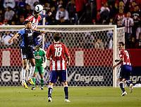 Chivas USA defender Dario Delgado (12) battles San Jose Earthquakes forward Ryan Johnson (19). CD Chivas USA defeated the San Jose Earthquakes 3-2 at Home Depot Center stadium in Carson, California on Saturday April 24, 2010.  .