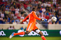 Portland Timbers goalkeeper Donovan Ricketts (1). The New York Red Bulls  defeated the Portland Timbers 3-2 during a Major League Soccer (MLS) match at Red Bull Arena in Harrison, NJ, on August 19, 2012.