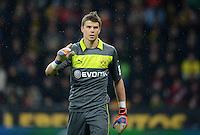 FUSSBALL   1. BUNDESLIGA   SAISON 2012/2013    20. SPIELTAG Bayer 04 Leverkusen - Borussia Dortmund                  03.02.2013 Torwart Mitchell Langerak (Borussia Dortmund)