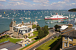 The Royal Yacht Squadron. Cowes Harbour. Red Funnel car ferry Photographs of the Isle of Wight by photographer Patrick Eden