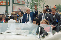 Oct. 24, 1988 - Los Angeles, California - USA- Los Angeles Dodgers Manager Tommy  Lasorda waves to fans as he rides in a World Series victory parade in downtown Los ANgeles after the Dodgers won the 1988 World Series. (Photo by Alan Greth)