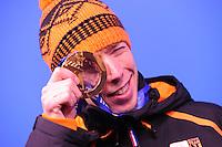 OLYMPICS: SOCHI: Medal Plaza, 19-02-2014, Men 10.000m, Jorrit Bergsma (NED), ©photo Martin de Jong