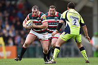 Fraser Balmain of Leicester Tigers in possession. Aviva Premiership match, between Leicester Tigers and Sale Sharks on April 29, 2017 at Welford Road in Leicester, England. Photo by: Patrick Khachfe / JMP