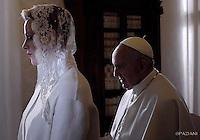 Pope Francis Prince Albert II , Princess Charlene of Monaco private audience Vatican.January 18,2016