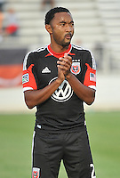 James Riley (2) of D.C. United at the presentation of the teams. D.C. United defeated the The New England Revolution 3-1 in the Quarterfinals of Lamar Hunt U.S. Open Cup, at the Maryland SoccerPlex, Tuesday June 26 , 2013.