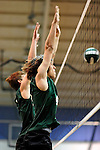 8 November 2009: Vermont Commons School Boys participate in the 2009 High School Volleyball State Championships hosted by Vermont Commons School at the Sports and Fitness Edge in South Burlington, Vermont. The Enosburg Falls Hornets successfully defended their boys' title while the VCS Flying Turtles rallied to maintain their girls' team crown. Mandatory Credit: Ed Wolfstein Photo
