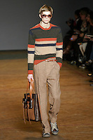 Frederik walks runway in an outfit from the Marc by Marc Jacobs Fall/Winter 2011 collection, during New York Fashion Week, Fall 2011.
