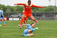 Piscataway, NJ - Saturday May 20, 2017: Poliana, Kelley O'Hara during a regular season National Women's Soccer League (NWSL) match between Sky Blue FC and the Houston Dash at Yurcak Field.  Sky Blue defeated Houston, 2-1.