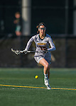 30 March 2016: University of Vermont Catamount Midfielder Kim Arkell, a Sophomore from Brentwood, NH, in second half action against the Manhattan College Jaspers at Virtue Field in Burlington, Vermont. The Lady Cats defeated the Jaspers 11-5 in non-conference play. Mandatory Credit: Ed Wolfstein Photo *** RAW (NEF) Image File Available ***