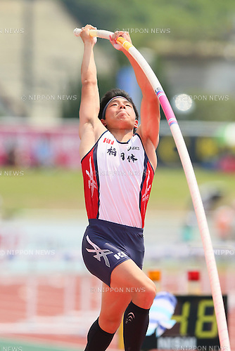 Takuma Arai, JULY 30, 2015 - Athletics : 2015 All-Japan Inter High School Championships, Men's Pole Vault Final at Kimiidera Athletic Stadium, Wakayama, Japan. (Photo by YUTAKA/AFLO SPORT)