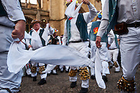 Morris dancing on May Morning in Oxford.