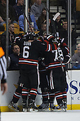 - The Northeastern University Huskies defeated the Boston University Terriers 3-2 in the opening round of the 2013 Beanpot tournament on Monday, February 4, 2013, at TD Garden in Boston, Massachusetts.