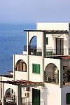 Hotel on the Mediterranean sea shore. Limassol, Cyprus.