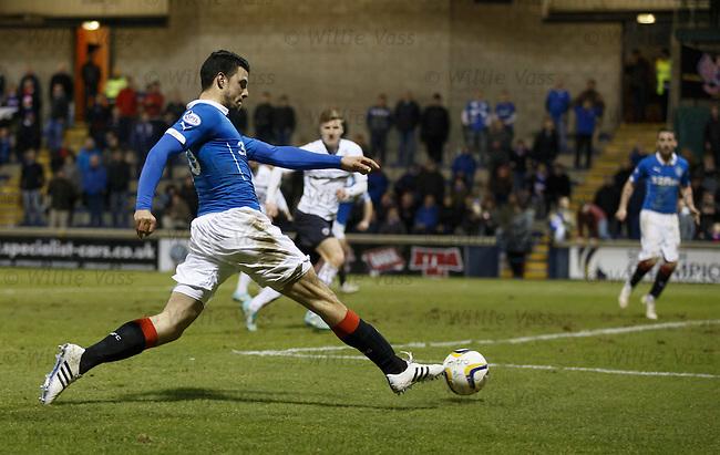 Haris Vuckic crosses the ball to Nicky Clark