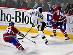 21 September 2009: Pittsburgh Penguins' center Sidney Crosby (87) works on puck possession during a pre-season game against the Montreal Canadiens at the Bell Centre in Montreal, Quebec, Canada. The Canadiens edged out the defending Stanley Cup Champions 4-3. Mandatory Credit: Ed Wolfstein Photo