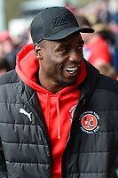 Fleetwood Town's Devante Cole smiles prior to the match<br /> <br /> Photographer Richard Martin-Roberts/CameraSport<br /> <br /> The EFL Sky Bet League One - Fleetwood Town v Millwall - Monday 17th April 2017 - Highbury Stadium - Fleetwood<br /> <br /> World Copyright &copy; 2017 CameraSport. All rights reserved. 43 Linden Ave. Countesthorpe. Leicester. England. LE8 5PG - Tel: +44 (0) 116 277 4147 - admin@camerasport.com - www.camerasport.com