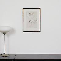 """Klimt: """"Liegender Halsakt"""", Digital Print, Image Dims. 13"""" x 8.5"""", Framed Dims. 18.25"""" x 13.5"""""""