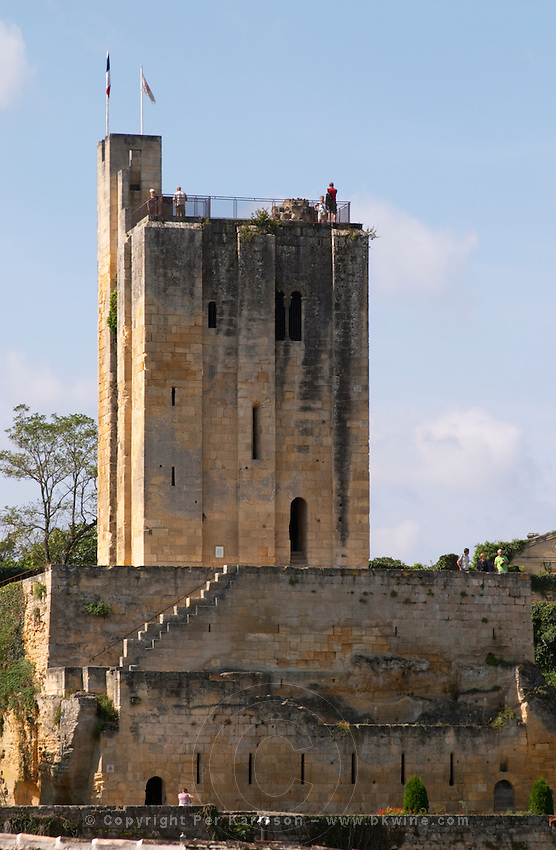 Tour du Roy, King's Tower. The town. Saint Emilion, Bordeaux, France