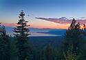 Lake Tahoe Landscape Sunset Clouds