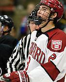 Patrick McNally (Harvard - 8) - The Harvard University Crimson defeated the visiting Bentley University Falcons 5-0 on Saturday, October 27, 2012, at Bright Hockey Center in Boston, Massachusetts.