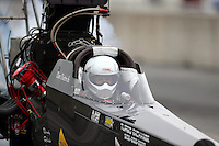 Oct 1, 2016; Mohnton, PA, USA; NHRA top alcohol dragster driver Dan Dietrich during qualifying for the Dodge Nationals at Maple Grove Raceway. Mandatory Credit: Mark J. Rebilas-USA TODAY Sports