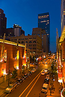Glenarm Place at twilight, Downtown Denver, Colorado USA