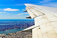 Flying into LaGuardia Airport (LGA), Queens, New York City, New York