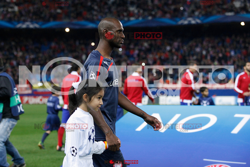 Olympiacos´s Abidal during Champions League soccer match between Atletico de Madrid and Olympiacos at Vicente Calderon stadium in Madrid, Spain. November 26, 2014. (ALTERPHOTOS/Victor Blanco) /NortePhoto