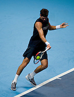 Juan Martin Del Potro (ARG) against Andy Murray (GBR) in the Group A Singles. Muray beat Del Potro 6-3 3-6 6-2..International Tennis - Barclays ATP World Tour Finals - O2 Arena - London - Day 1 - Sun 22 Nov 2009..© Frey - AMN IMAGES, Level 1 Barry House, 20-22 Worple Road, London, SW19 4DH - +44 20 8947 0100