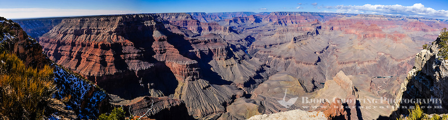 United States, Arizona, Grand Canyon. Pima Point, one of the best places on the West south rim to see the canyon and the Colorado River. Panorama view.