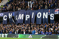 Champions banner displayed by the Chelsea fans during Chelsea vs Watford, Premier League Football at Stamford Bridge on 15th May 2017