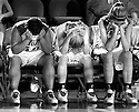 "The the Lady Raiders hang their heads at the end of the game. The highly touted Lady Raiders lost in the finals of the 4th Region Championship to Barren County aekdb ""Region Champs"""