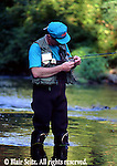 Fishing, Pennsylvania Outdoor recreation, Fishing Men Trout Fishing in Yellow Breeches Creek, Cumberland Co., PA
