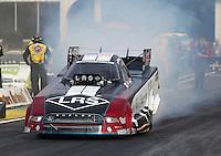 May 15, 2015; Commerce, GA, USA; NHRA funny car driver Tim Wilkerson during qualifying for the Southern Nationals at Atlanta Dragway. Mandatory Credit: Mark J. Rebilas-USA TODAY Sports