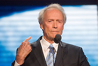 TAMPA, FL - August 30, 2012: Clint Eastwood speaking on the RNC's final night.