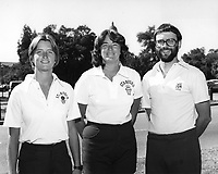 1981: Women's Basketball Coaching Staff; Sue Rojcewicz, Dotty McCrea, Mike Kehoe.