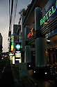 July 5, 2011 - Tokyo, Japan - A row of love hotels are shown in Shinjuku. In the Kabukicho district of Shinjuku, love hotels are used for short stays which are commonly used by couples to conduct intimate activities. Love hotels are popular especially among young Japanese couples that still live with their parents and want to have a place to spend a private moment together with their partner. Many of these hotels are also known to be used for prostitution activities.